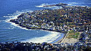 York Beach Prints - Cape Neddick And York Beach, York Print by Dave Cleaveland