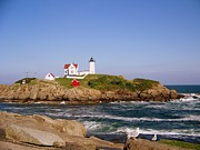 Nubble Lighthouse Posters - Cape Neddick   Poster by Eunice Miller