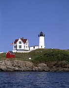 Cape Neddick Light Station Prints - Cape Neddick Light Station in Maine Print by Mountain Dreams