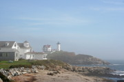 Nubble Lighthouse Prints - Cape Neddick Lighthouse III Print by Christiane Schulze