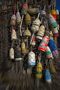 Lobster Traps Photos - Cape Neddick Lobster Buoys by Susan Candelario