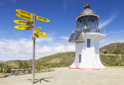 Signpost Prints - Cape Reinga Lighthouse Print by Colin and Linda McKie