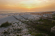 Sand Fences Posters - Cape San Blas Sunset Poster by Paul Mashburn