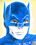 Super Stars Painting Framed Prints - Caped Crusader Blue Framed Print by Ronn Greer
