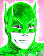 Heroes Paintings - Caped Crusader Green by Ronn Greer