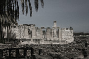 Synagogue Photos - Capernaum Synagogue by Tom Griffithe
