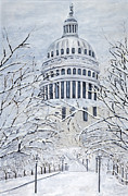 Charlotte Metal Prints - Capital Blizzard 2010 by Charlotte Levitan Metal Print by Sheldon Kralstein