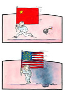 U S Flag Originals - Capitalism by force by Victor Eugen MIHAI - VEM