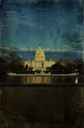 United States Capitol Dome Framed Prints - Capitol Blues Framed Print by Terry Rowe