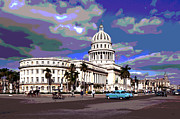 Capitol Mixed Media - Capitol Havana Cuba by Charles Shoup