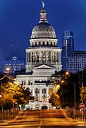 Austin Downtown Prints - Capitol of Texas Print by Silvio Ligutti