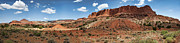 Capitol Reef National Framed Prints - Capitol Reef Panorama No. 1 Framed Print by Tammy Wetzel