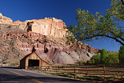 Ranch Metal Prints - Capitol Reef Ranch Metal Print by Michael J Bauer