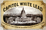 Lead Digital Art Prints - Capitol White Lead Print by Studio Art