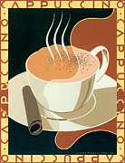 Vintage Teacup Prints - Cappuccino Print by Brian James
