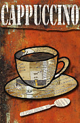 Patina Mixed Media Prints - Cappuccino Cup Print by AdSpice Studios