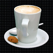 Enjoying Prints - Cappuccino with an Amaretti Biscuit Print by Terri  Waters