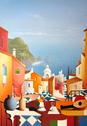 Joe Gilronan Metal Prints - Capri a Little Piece of Heaven Metal Print by Joe Gilronan