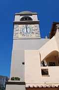 Large Clock Prints - Capri - La Piazzetta Clock Tower  Print by Dany Lison Photography