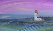 Bay Of Fundy Prints - Capricious Lighthouse... Print by Nina Stavlund