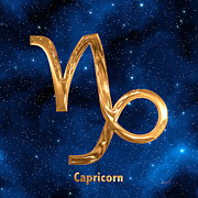 Zodiac Sign Prints - Capricorn Print by Marsha Charlebois
