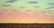 Sunrise Paintings - Caprock Sunrise by James W Johnson