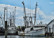 Docked Boat Digital Art Prints - Capt. Jeff Print by Victor Montgomery