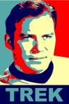 Captain Kirk Posters - Capt. Kirk pop Poster by Paul Van Scott