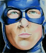 Captain Pastels Posters - Captain America Poster by Bobby Boyer