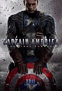 Captain America Framed Prints - Captain America The First Avenger  Framed Print by Movie Poster Prints