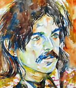 Captain Prints - Captain Beefheart Watercolor Portrait.4 Print by Fabrizio Cassetta