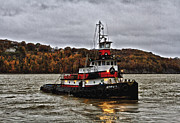 Hudson River Tugboat Photos - Captain D by Steven Brooks