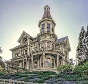 Haunted House Photo Posters - Captain George Flavel Victorian House - ASTORIA OREGON Poster by Daniel Hagerman