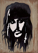 Captain Jack Sparrow Prints - Captain Jack Print by Chyenne DeWitt