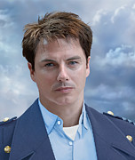 British Portraits Digital Art Framed Prints - Captain Jack Harkness - Torchwood Framed Print by Ifourdezign