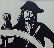 Captain Jack Sparrow Paintings - Captain Jack Sparrow by Atz