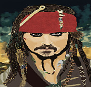 Captain Jack Sparrow Prints - Captain Jack Sparrow Print by Corey Hopper