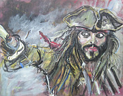 Captain Jack Sparrow Paintings - Captain Jack Sparrow by Gerald Rader