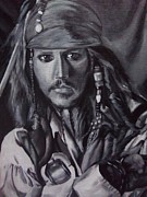Captain Jack Sparrow Prints - Captain Jack Sparrow Print by Lori Keilwitz
