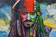 Captain Jack Sparrow Paintings - Captain Jack Sparrow by Tim Patch