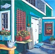 P Town Paintings - Captain Jacks Wharf by Candice Ronesi