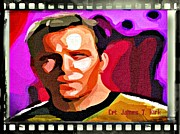Roddenberry Posters - Captain James T Kirk Poster by John Malone