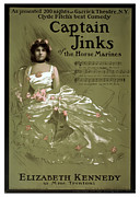 Ballet Dancers Mixed Media Framed Prints - Captain Jinks Framed Print by Terry Reynoldson