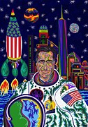 Barrack Obama Prints - Captain Mitt Romney - American Dream Warrior Print by Robert  SORENSEN