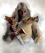 Male Elf Posters - Captain of the Guard Poster by Suzanne Amberson