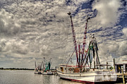 Boats In Harbor Metal Prints - Captain Phillips Metal Print by Benanne Stiens