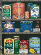 Cans Drawings - Captains Cupboard by Karen Rhodes