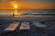Lounges Framed Prints - Captiva Sunset I Framed Print by Steven Ainsworth