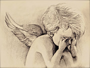 Wings Drawings - Captivate by Rua Francis