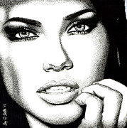 Model Drawings - Captivating Eyes by Cory Still